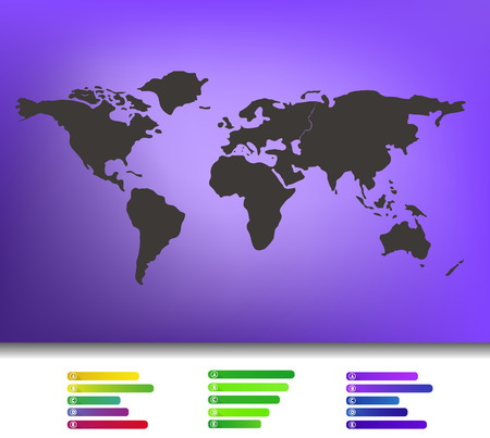 Black world map illustration with labels vector eps 10 royalty free world map illustration vector eps 10 on blurred purple background mesh gumiabroncs Gallery