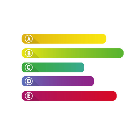 Infographic colorful banners, labes, choices, label illustration vector