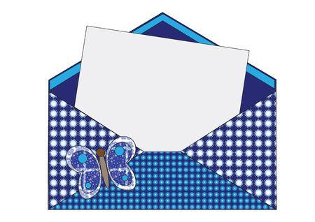 wish: Blue envelope wish for Illustration