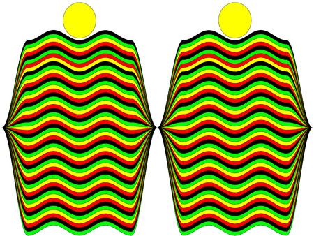 rastafarian: Two abstract person representative Rastafarian of Jamaica Illustration