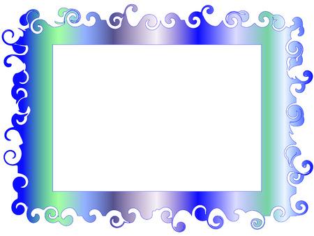 decorative frame: Decorative frame in soft tones blue-green Illustration