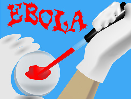 suspected: Laboratory analysis of a biological sample in suspected EBOLA Illustration