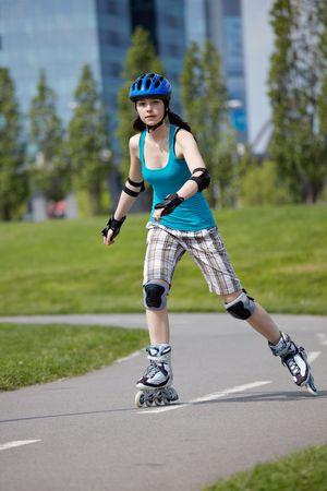 roller blade: Roller blade girl