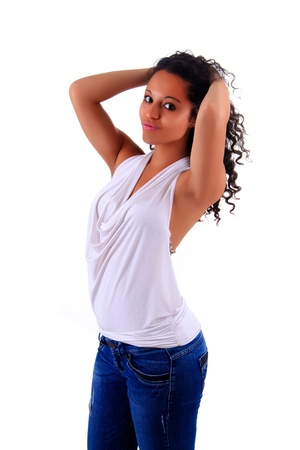 Portrait of Beautiful Woman african black metisse Stock Photo - 14162963