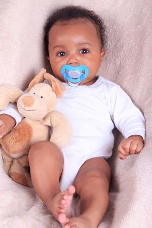 baby african american black metisse newborn photo