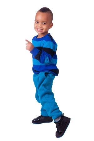 african american little boy portrait photo