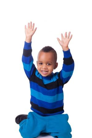 mixed race baby: african american little boy portrait