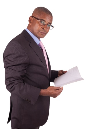 lawyer or business man reading a book Stock Photo - 16305364