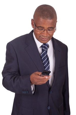 african businessman: african businessman on the phone