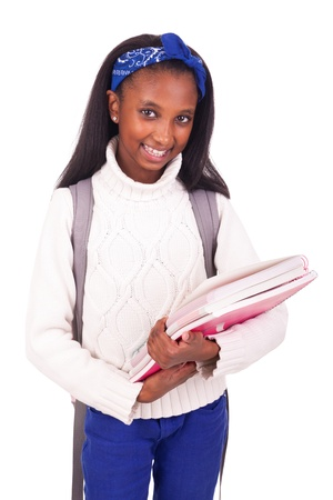 Portrait of young african student with bag Stock Photo - 17822769