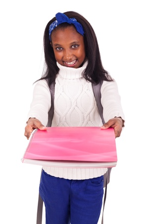 Portrait of young african student with Stock Photo - 17822761