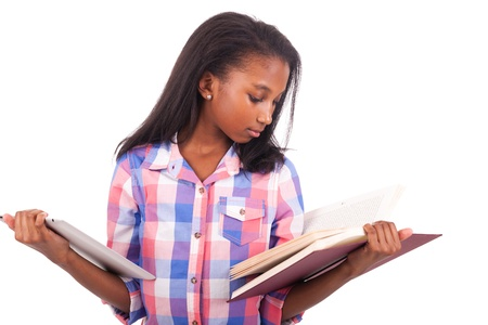 young african Student isolated read a book Stock Photo - 17822741