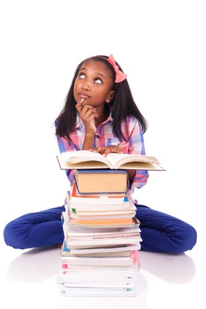 young african Student isolated read a book Stock Photo - 17822732