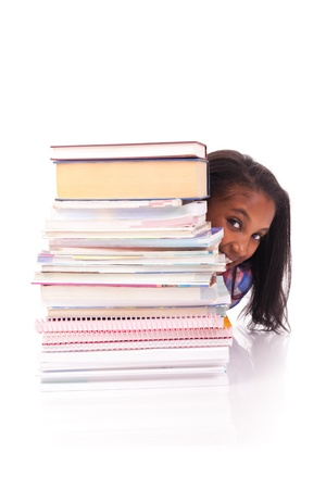 young african Student isolated read a book Stock Photo - 17822717