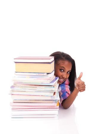 young african Student isolated read a book Stock Photo - 17822661