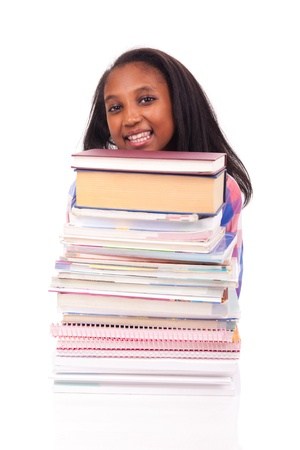 young african Student isolated read a book Stock Photo - 17822729
