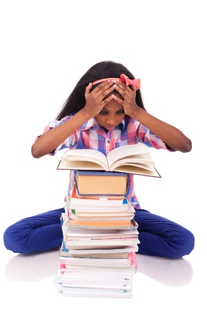 young african Student isolated read a book Stock Photo - 17822730