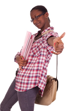 african student: College student young African American Stock Photo