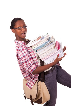 College student young African American Stock Photo - 18068685