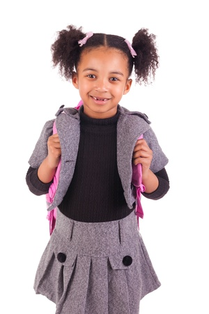 young African girl with a black slate Stock Photo - 18231350