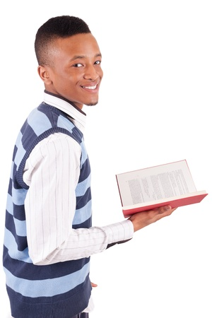 young African American student with a book isolated Stock Photo - 19341529