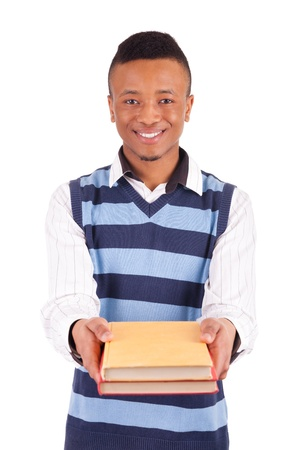 young African American student with a book isolated Stock Photo - 19341541
