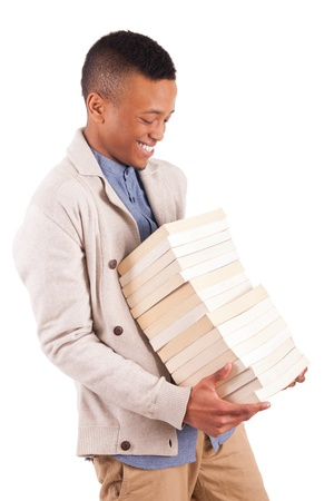 young African American student with a book isolated Stock Photo - 19341542