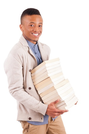 young African American student with a book isolated Stock Photo - 19341537