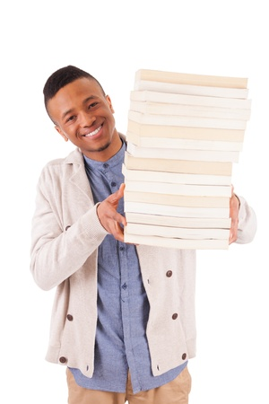 young African American student with a book isolated Stock Photo - 19341535
