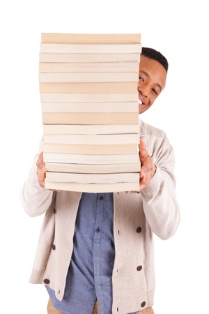young African American student with a book isolated Stock Photo - 19341534