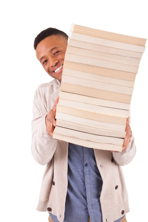 young African American student with a book isolated Stock Photo - 19341539