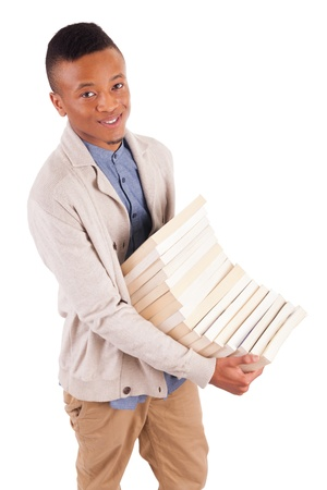 young African American student with a book isolated Stock Photo - 19341528