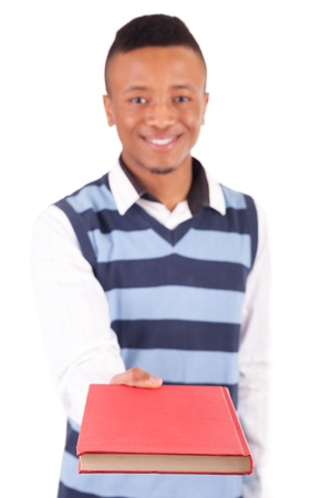 young African American student with a book isolated Stock Photo - 19341521
