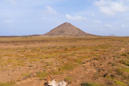 colo: Mountains landscape in Boavista, Cabo Verde