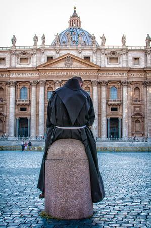 friar: Friar view basilica of st. Peter