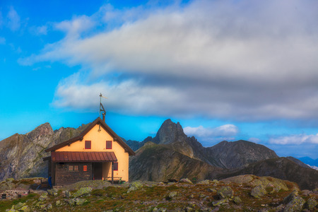 Alpine hut in the solitude