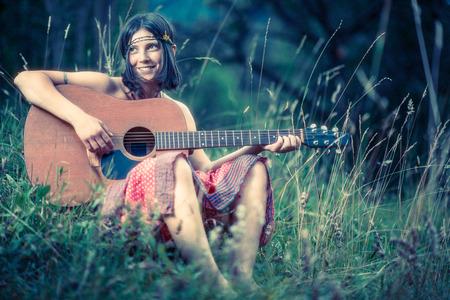 Hippy girl - 1970 style photo