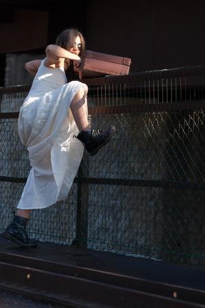 cinderella shoes: bride escaping