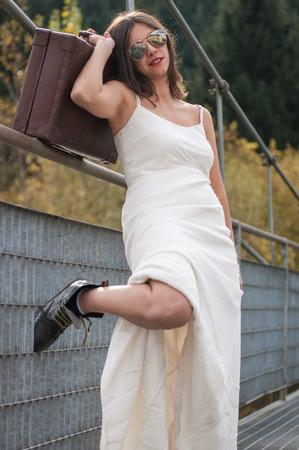 Bride on the Bridge photo