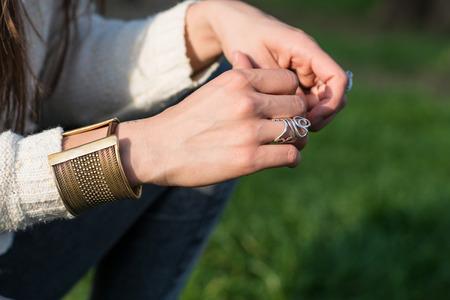 hands and jewel photo