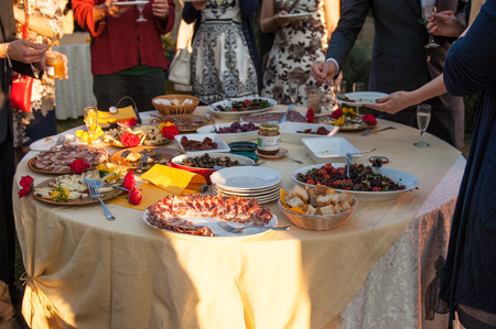 detail on th efood during a wedding party photo