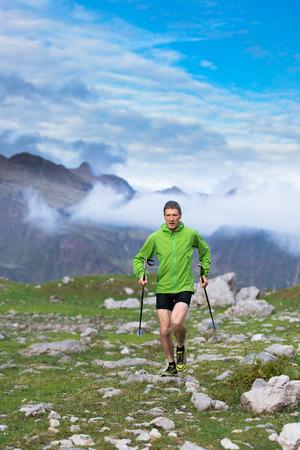 holiday maker: nordic walking mountain