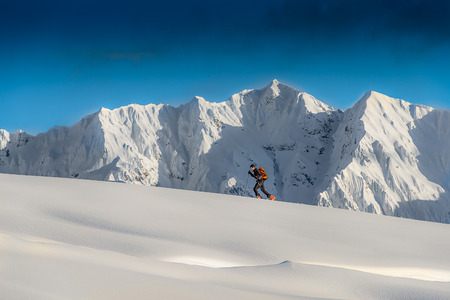 Ski alpinism Stock Photo