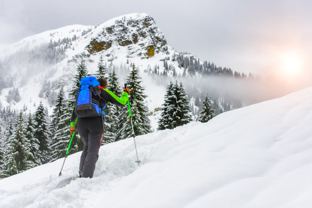 mountaineering: ski mountaineering