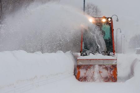 snow  snowy: snowplo Stock Photo