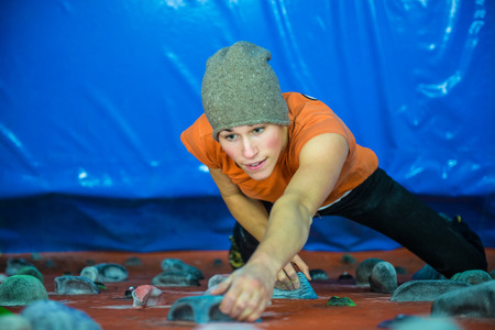 indoor climbing girl photo