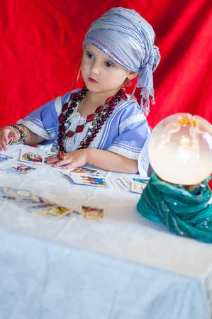 fortune teller: particular of fortune teller Stock Photo