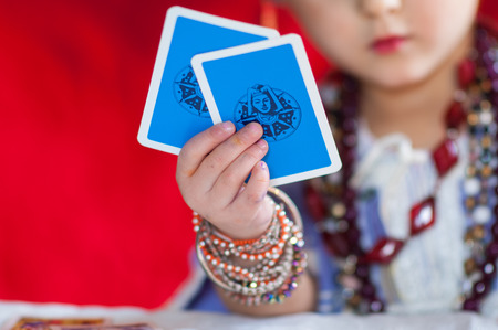 particular of fortune teller Stock Photo