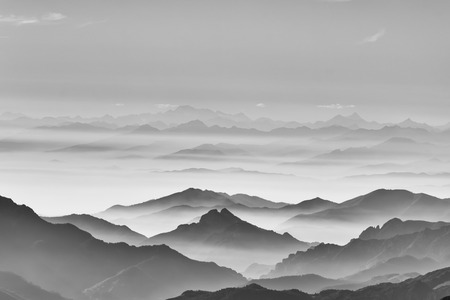 mountain range: sea of the mountain Stock Photo