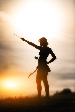 girl with bow Standard-Bild